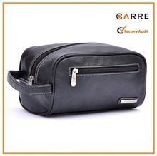 2015 latest fashion PU leather travel men toiletry bag
