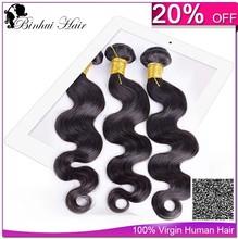 yutube 20% off aaaaaa grade Color 1b Virgin Hair Body Wave Human Hair Extension