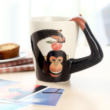 New Arrive Hand Painting 3D Animal Ceramic Coffee Cups