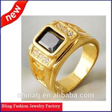 Handsome Men's Yellow Gold Filled diamond engagementfinger ring gold ring designs for men