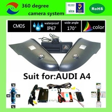 3D AVM safe driving assistant system 360 degree parking system car reversing camera system for A4