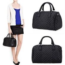 New Women's Black Geometric Handbag Tote Shoulder Cross Bag SV014335