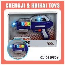 Hot plastic kid funny light up toy gun powerful musical gun playset