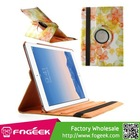 Elegant Flowers Smart Leather Cover w/ 360 Degree Rotatory Stand for iPad Air 2