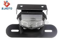 Motorcycle Smoke Color LED Brake Rear Light Taillight Chopper Softail Roadster Custom Cruiser Brand of ZJMOTO Good