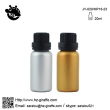 20ml essential oil glass container with black cap