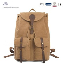 New Arrival High Quality Canvas School Bag Unisex Canvas Backpack