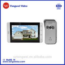 room to room intercom 7 inch video doorbell intercom TFT LCD screen