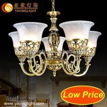 Cogumelo forma moderna candelabro da lâmpada, bola redonda transparente pendente da lâmpada