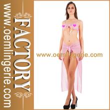 Pink Transparent Lace Bra Erotic Ladies Sexy Night Dress For Sleep