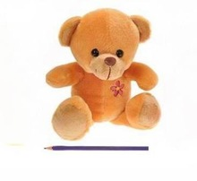 20cm chest embroidery a flower brown bear plush toy