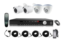 HOT SALE 4ch AHD DVR KIT ,720P AHD KIT work with 4 AHD Camera ,security system kit