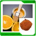 colores inorgánicos pigmento óxido de hierro de color naranja utilizados en el recubrimiento y pintura