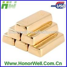 Gold Bar Shape Metal 64GB Usb Flash Disk Stick Drive Flash