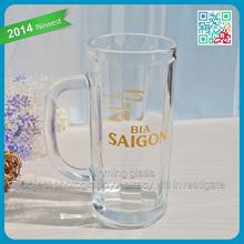 2015 new style beer brand gift 1 liter glass beer mug