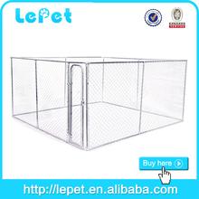 black panel expanded metal dog cage