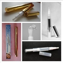 Aluminum or plastic material available cleaning oral professional pen, teeth whitening gel mint flavor pen