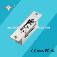 short stainless steel plate electric strike lock , keyless door locks