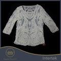 diseños de bordado parte superior calidad de manga larga señoras bordado elegante blusas
