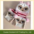 W-1098 gufo uncinetto personalizzato carino beanie sciarpe di bambini gufo cappello lavorato a maglia e la sciarpa