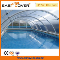 winter swimming pool cover roof