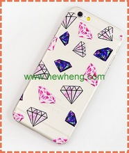 Hot sale 3d Coloured drawing or pattern plastic hard case for iphone 6 & 6plus