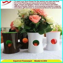 Luxury series squirrel flowerpots hot sale christmas decoration