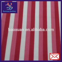 fleece stripe fabric red and white stripe fabric