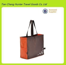 wholesale custom shopping bag/recyclable reusable shopping bag/ shopping bag with side pocket