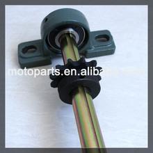 Go kart rear axle with disc brakes