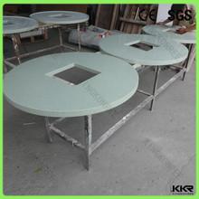 Kingkonree solid surface restaurant hot pot table set