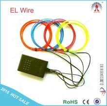 High brightness el chasing wire flat el wire blue red multicolor el wire inverter 2015 New