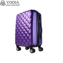 purple color diamond alike luggage size