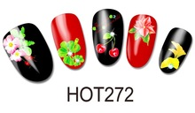 HOT Series four leafs flower Pattern Water Nail Tattoo Transfer Nail decal Sticker
