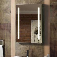 Smart Single Broadway Hang a Frameless Illuminated Mirror
