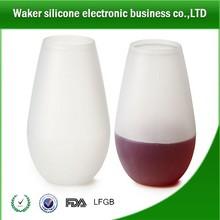 Unique Silicone Wine Glasses/cups ,Food Grade Clear Silicone,Never Break!