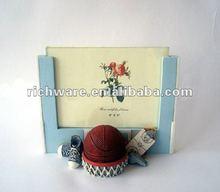 elegant basketball polyresin photo frame