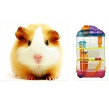 pet high quality portable metal wire plastics hamster cage