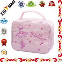 Pink Nylon School Ballet Shoe Lunch Box Cooler Bag for Girls