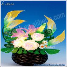 Artificial Cherry Fiberglass Bonsai Blossom Tree for Wedding Table Decoration