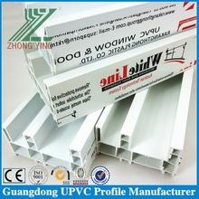 Ivory white vinyl siding profile for sliding window