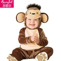 moda de veludo conjunto bonito de chapéu com a roupa do bebê menino