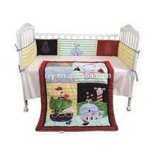 new style pretty baby bedding set Crib bedding set with Happy Penguin Family design