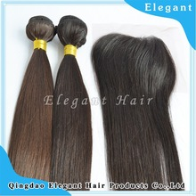 Elegant aliexpress 4''x3.5'' (H/L) Slightly Bleached Knots Brazilian Virgin Hair Hand Tied Free Parted Lace Closure