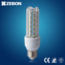 Ce Rohs Fcc Certificate Ac85-265V 6500K Cool White 7W E27 E14 B22 U Shape Led Light