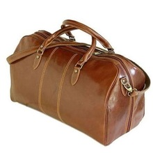 Durable travel bag leather pocket for vacation