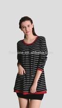 The Merino stripe coat of Women
