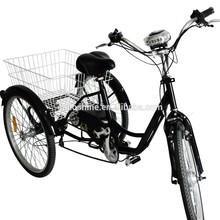 cheap aluminum shopping adult electric bike 3 wheel