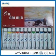 12 colors 12ml oil paints