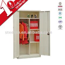 Steel New Two Door Half Shelf and Half Hanging Space Wardrobe / Cupboard